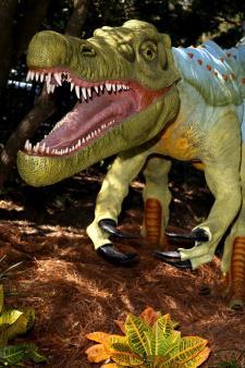 Dinosaur exhibit at North Carolina Aquarium at Fort Fisher