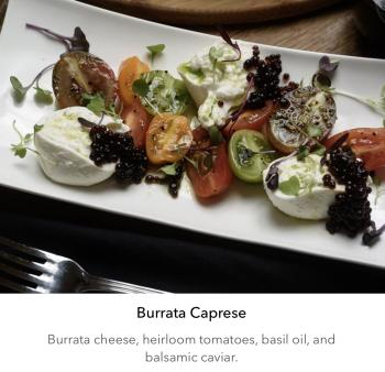 Burrata Caprese-The Villa