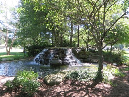 Friendship gardens, Plainfield, water fountains
