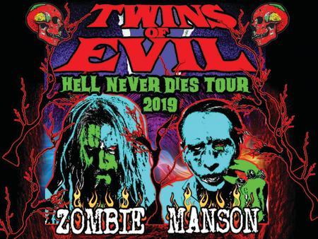 Zombie Manson Concert Promotion Graphic - Allen County War Memorial Coliseum