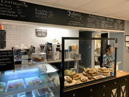Milk and Honey Bakery front counter