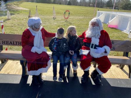 Santa Claus, Penguin Park, Washington Township park, open skate