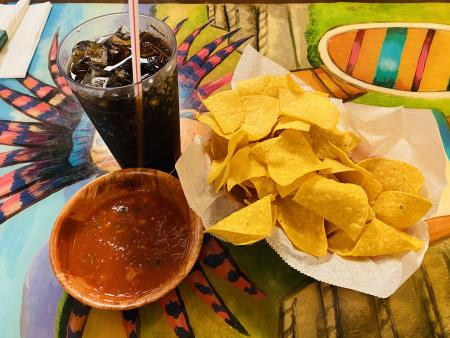 mexican food, chips and salsa, el patio, mexican restaurant