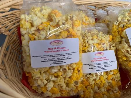 PopAKernal Mac N Cheese flavored popcorn