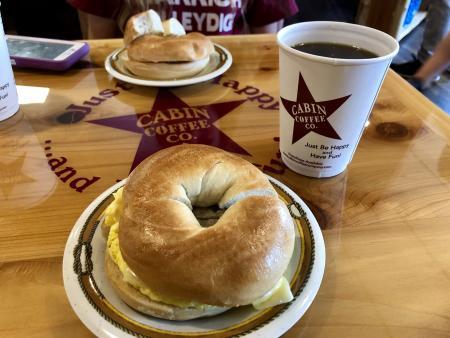 Cabin Coffee Company serves food, too.
