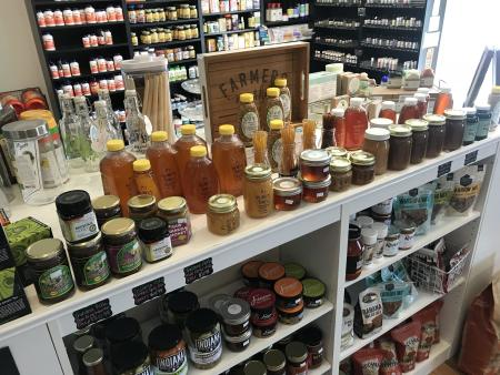 The Real food shoppe, all natural, honey
