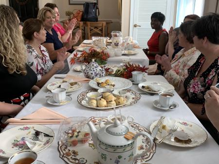 Group Enjoying Afternoon Tea at Centreville Cafe in Wilmington