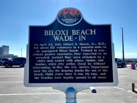 Biloxi Beach Freedom Trail marker - Discover Coastal Mississippi's African American Heritage