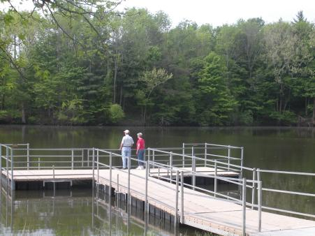 Do some catch-and-release fishing or admire the view from the ADA-accessible pier at Sodalis Nature Park.