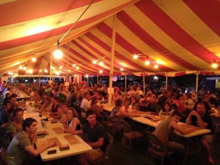 Bingo at the annual Amo Fish Fry Festival is a popular event.
