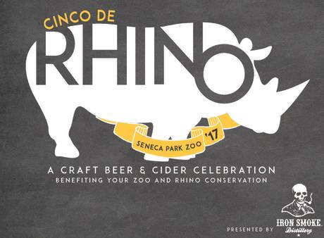 2017 Cinco De Rhino logo from Seneca Park Zoo
