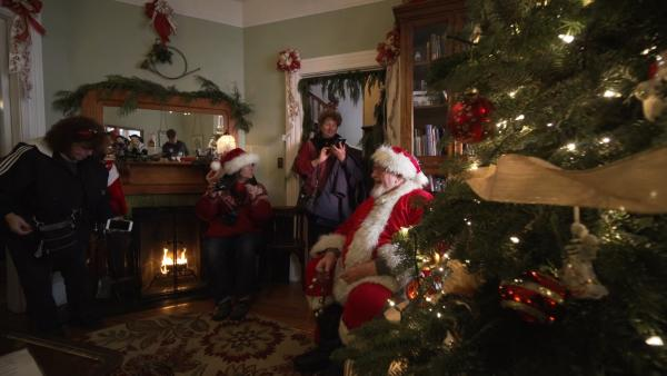 Santa Claus at Heceta Head Lighthouse B&B