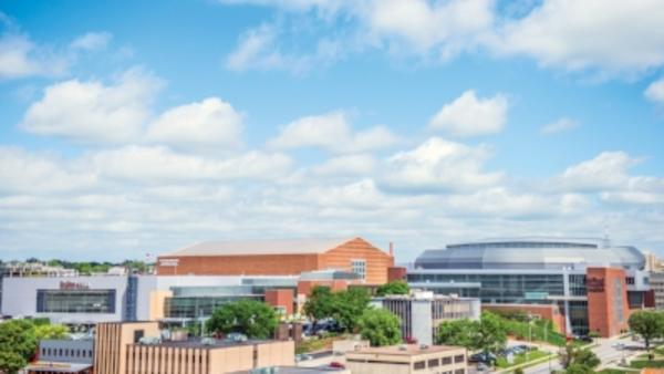 Aerial view of the Iowa Events Center