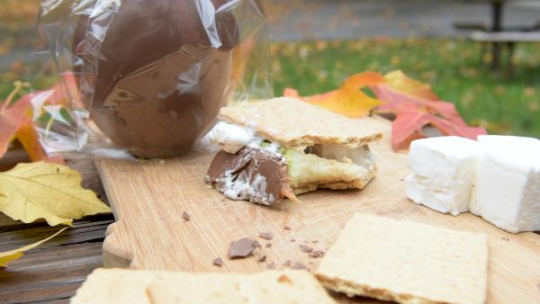The Fort Wayne S'more created at the Johnny Appleseed Park and Campground