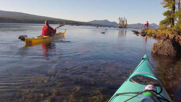 Waldo Lake Kayaking by Michael Sherman