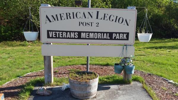 a sign for a memorial park