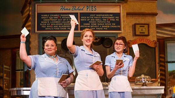 "Performers in ""Waitress"" Musical"