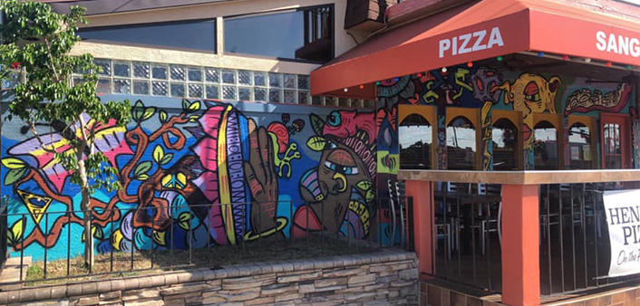Henry's Pizza Daytona Beach Mural