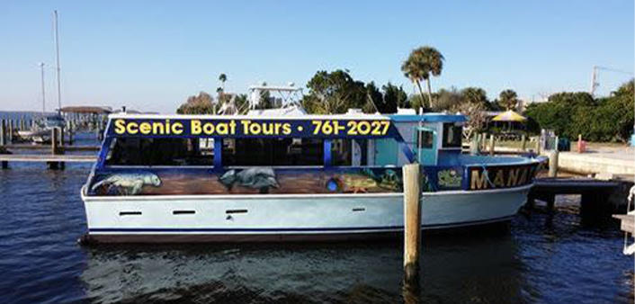 The Manatee Scenic Boat Tour boat
