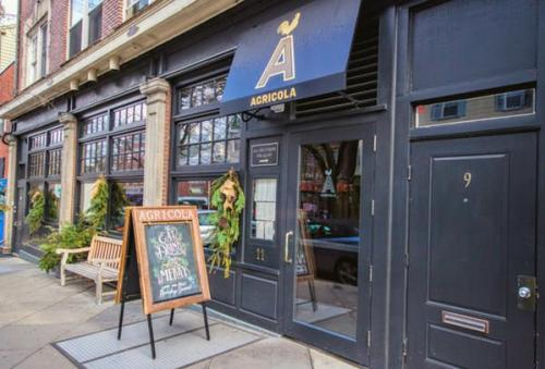 The entrance to the restaurant Agricola