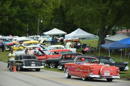 Tri-Five car show