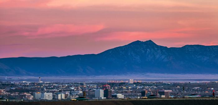 Albuquerque Skyline and Sunset