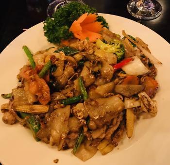 Drunken Noodles is a popular thai dish!