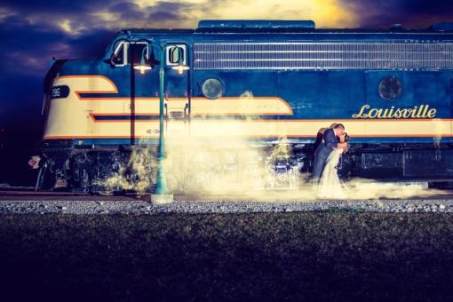 RailPark Wedding Exterior Train
