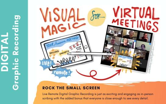 Digital Graphic Recording for your Virtual Events!
