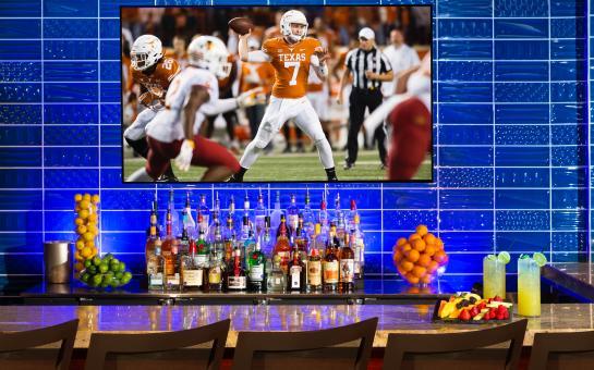 Hilton Austin Skyline Pool Bar with TV