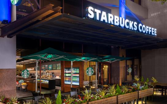 Hilton Austin Starbucks Coffee Outdoor Patio