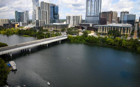 AO Tours Austin - View of Ladybird Lake and Downtown Austin