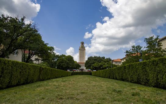 AO Tours Austin Passing UT Campus and UT Tower