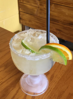 A ready to drink Margarita at Los Primos in Belleville, KS