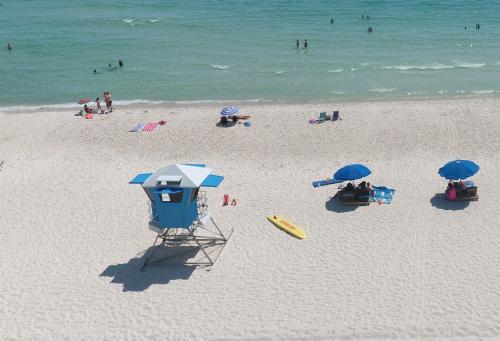 Lifeguard stand on Panama City Beach Florida