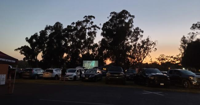 Cars Lined Up For The Muckenthaler Movies Drive-In