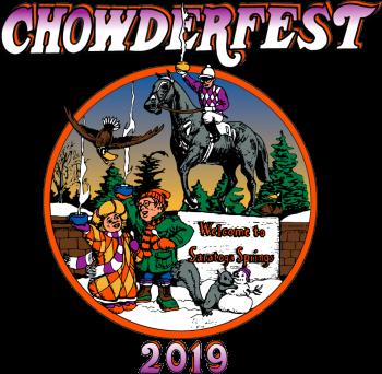 Saratoga Chowderfest 2019 logo and Native Dancer illustration