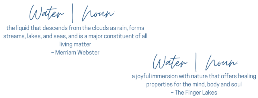 Water Definitions