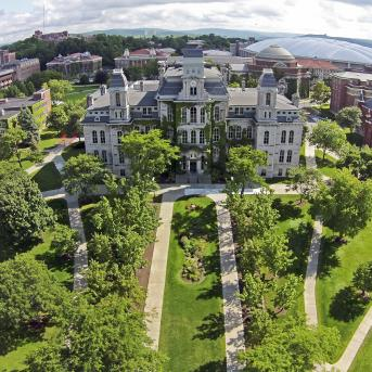 Ariel View of Hall of Languages Building