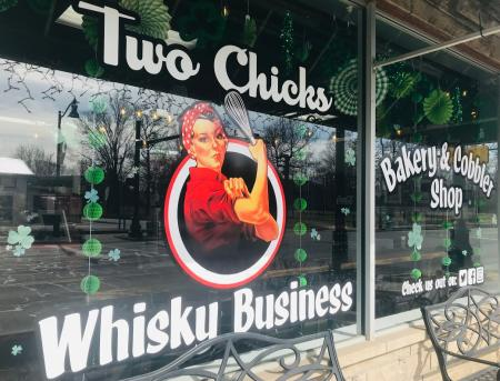Two Chicks Whisky Business Exterior Sign
