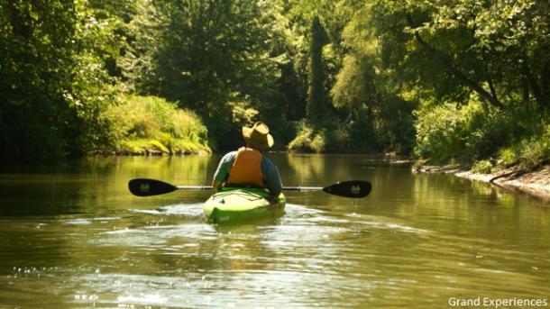 man paddling on Big Otter