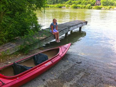 Paddling on the Erie Canal
