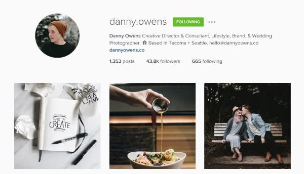 Danny Owens Instagram account
