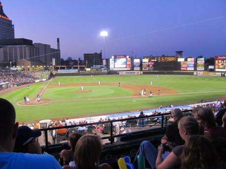 Red Wings Baseball game at Frontier Field in Rochester, ny