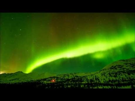 Northern Lights over Alpine Creek Lodge