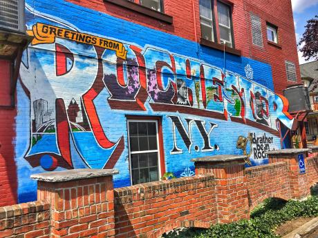 Greetings from Rochester Mural
