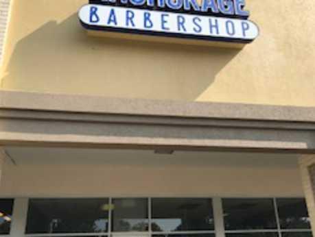 Anchorage Barbershop Exterior Logo