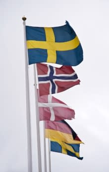 Scandinavian Flags by Graphic Stock