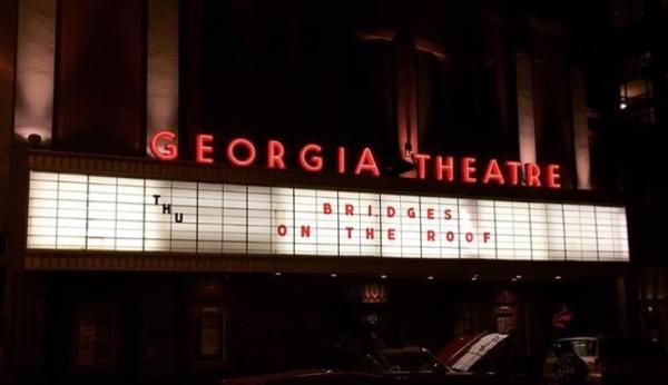 Georgia Theatre rooftop at night
