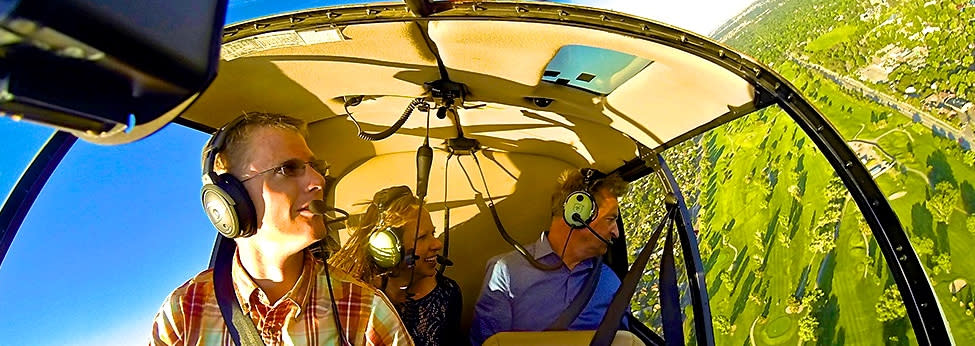 Pilot & 2 Passengers on the Boulder Transport Helicopter Tour